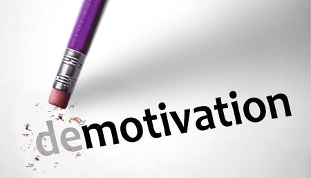 35516417 - eraser changing the word demotivation for motivation
