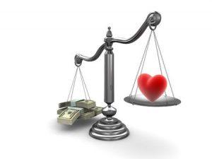 balanza dinero vida